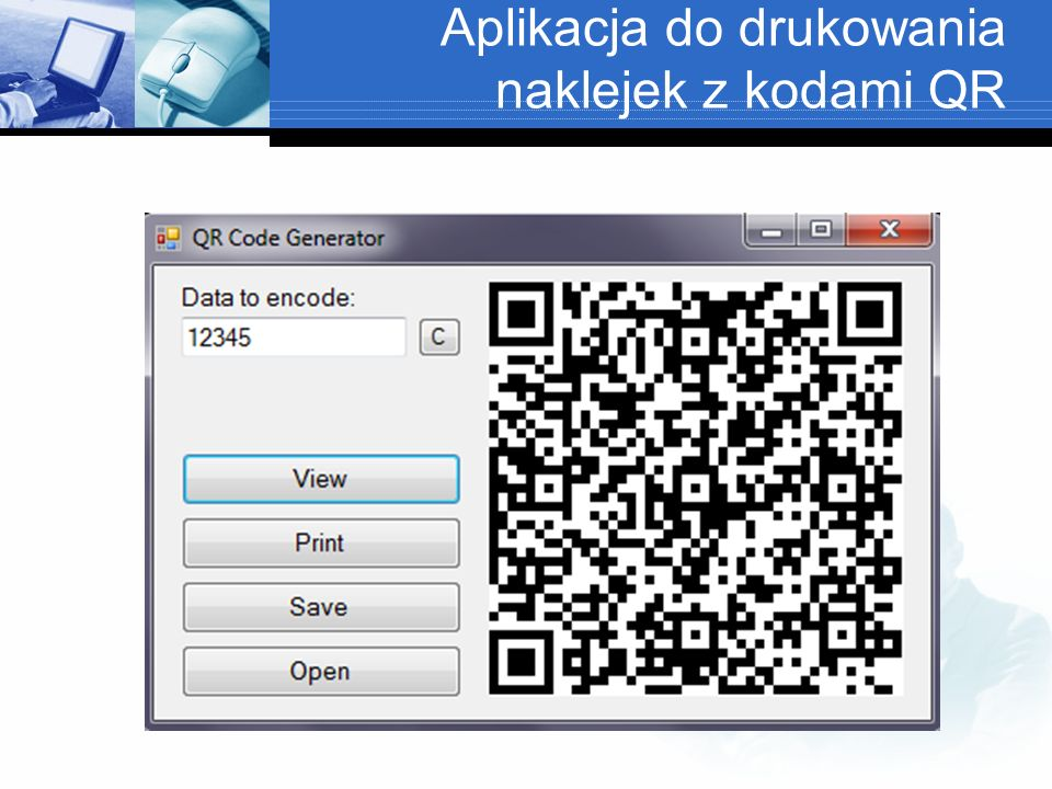 Aplikacja do drukowania naklejek z kodami QR