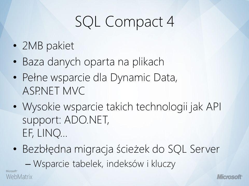 SQL Compact 4 2MB pakiet Baza danych oparta na plikach