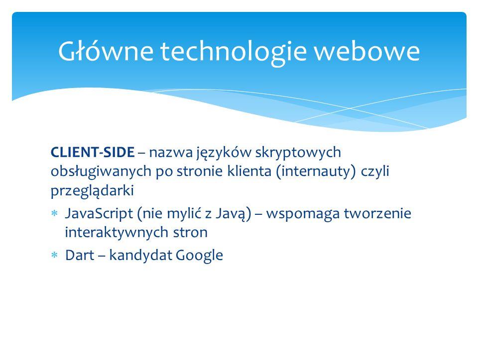 Główne technologie webowe