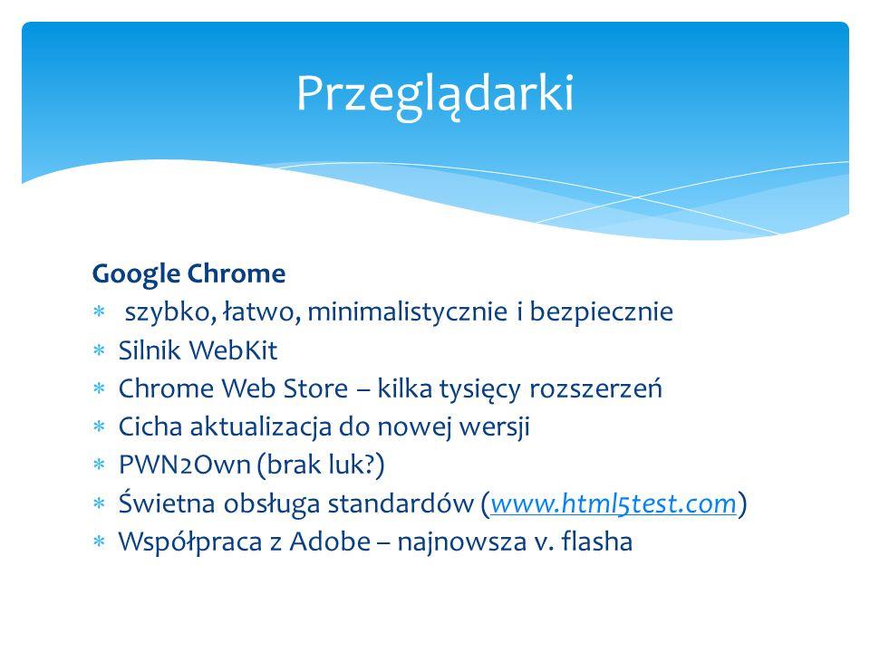 Przeglądarki Google Chrome