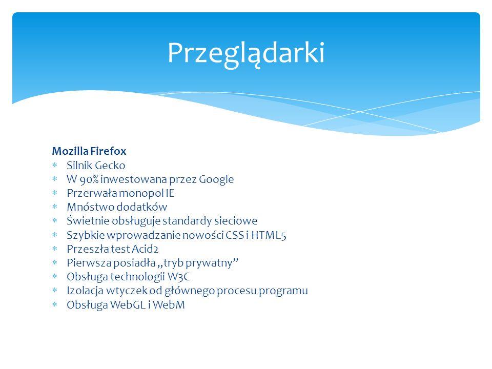 Przeglądarki Mozilla Firefox Silnik Gecko