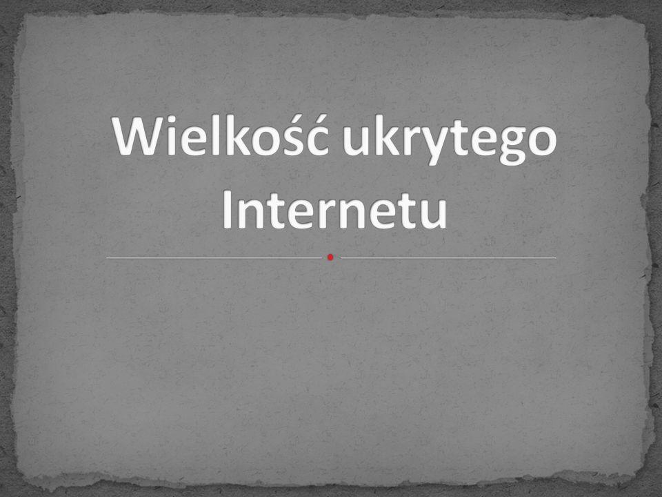 Wielkość ukrytego Internetu
