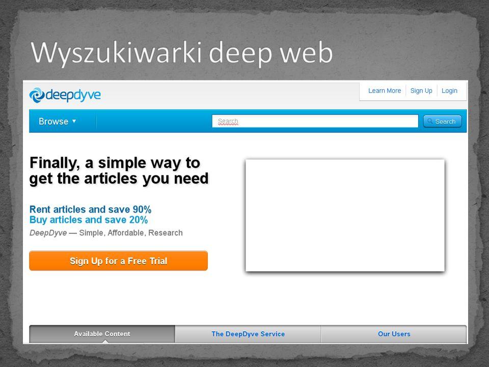Wyszukiwarki deep web