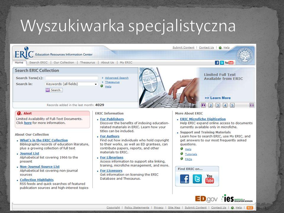Wyszukiwarka specjalistyczna