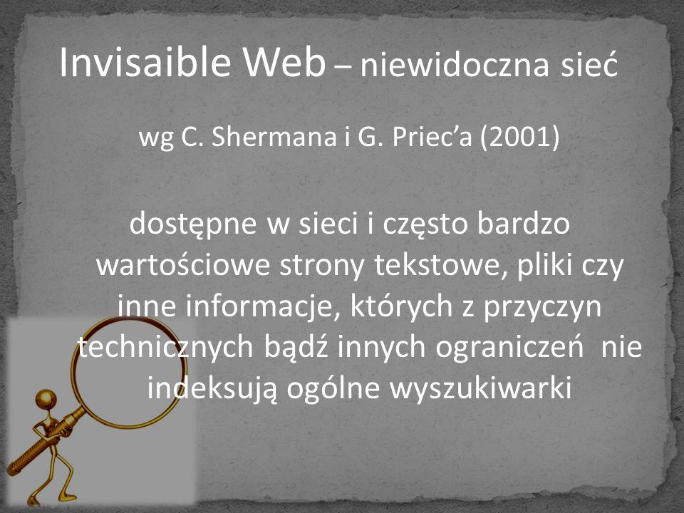 wg C. Shermana i G. Priec'a (2001)