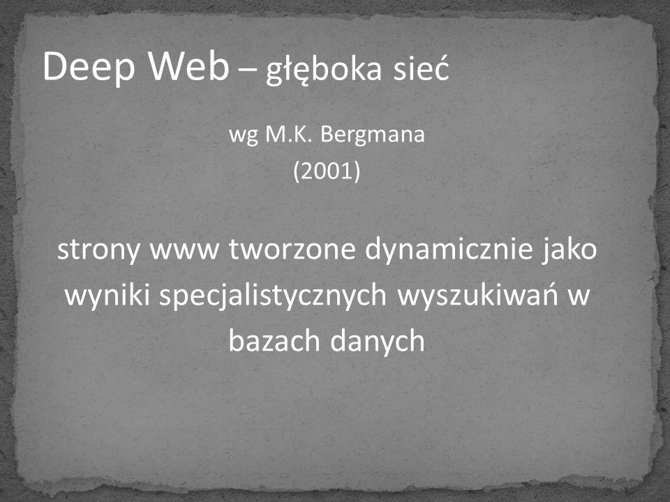 Deep Web – głęboka sieć strony www tworzone dynamicznie jako