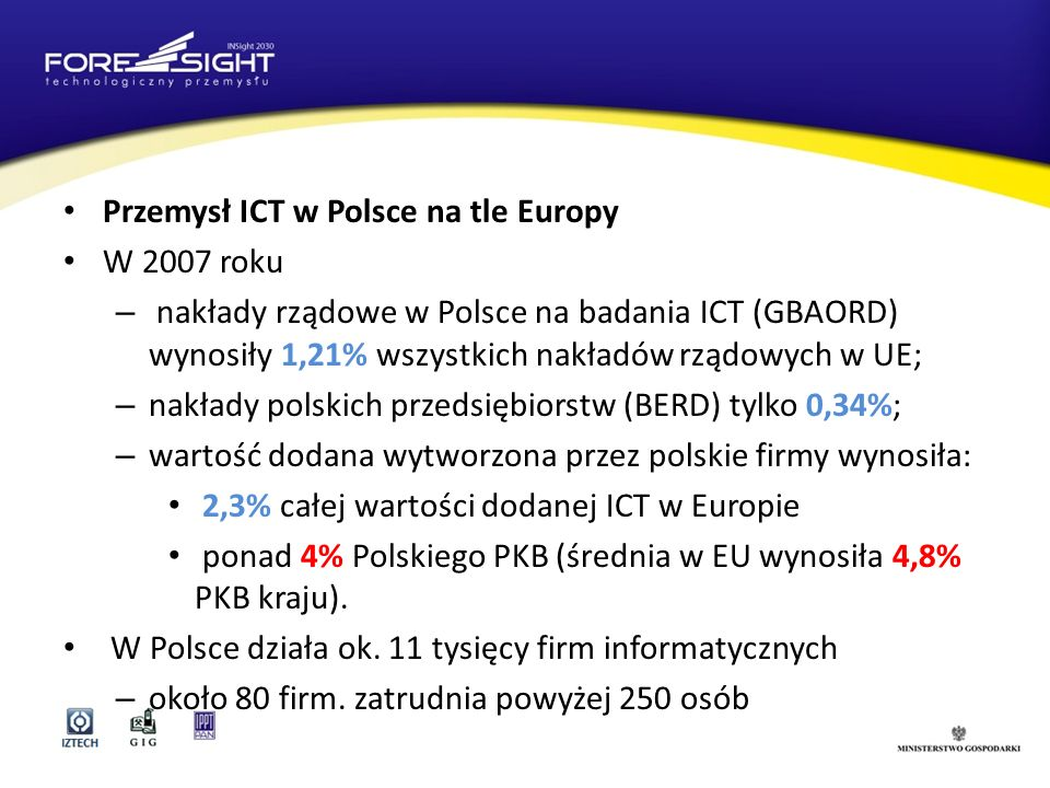 Przemysł ICT w Polsce na tle Europy