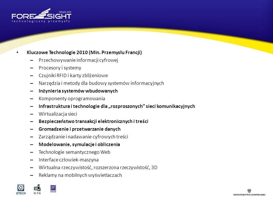 Kluczowe Technologie 2010 (Min. Przemysłu Francji)