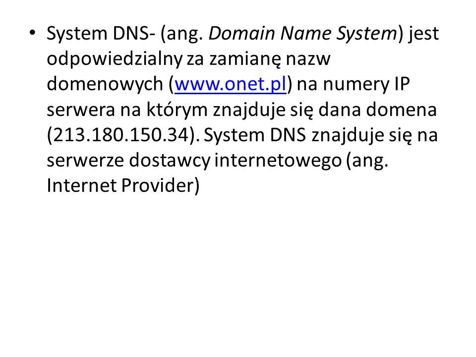 System DNS- (ang.