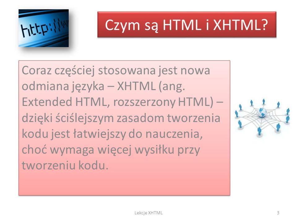 Czym są HTML i XHTML