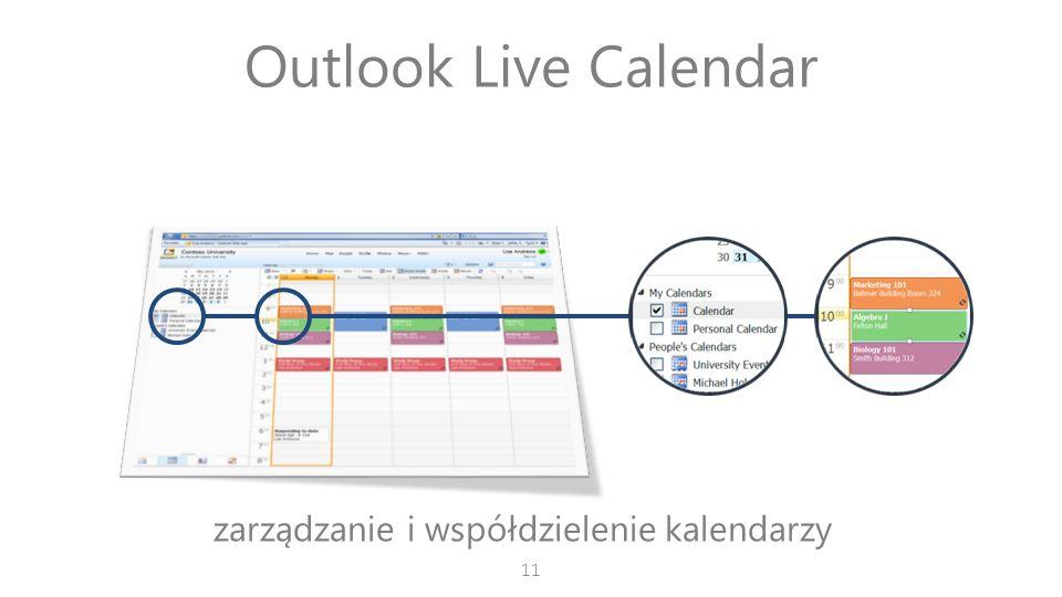 zarządzanie i współdzielenie kalendarzy