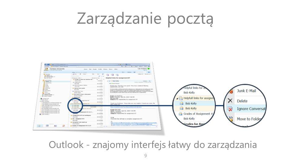 Outlook - znajomy interfejs łatwy do zarządzania
