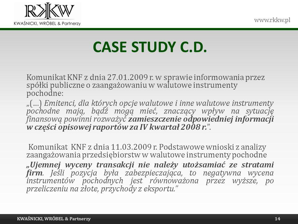 Tytuł prezentacji Case study c.d.