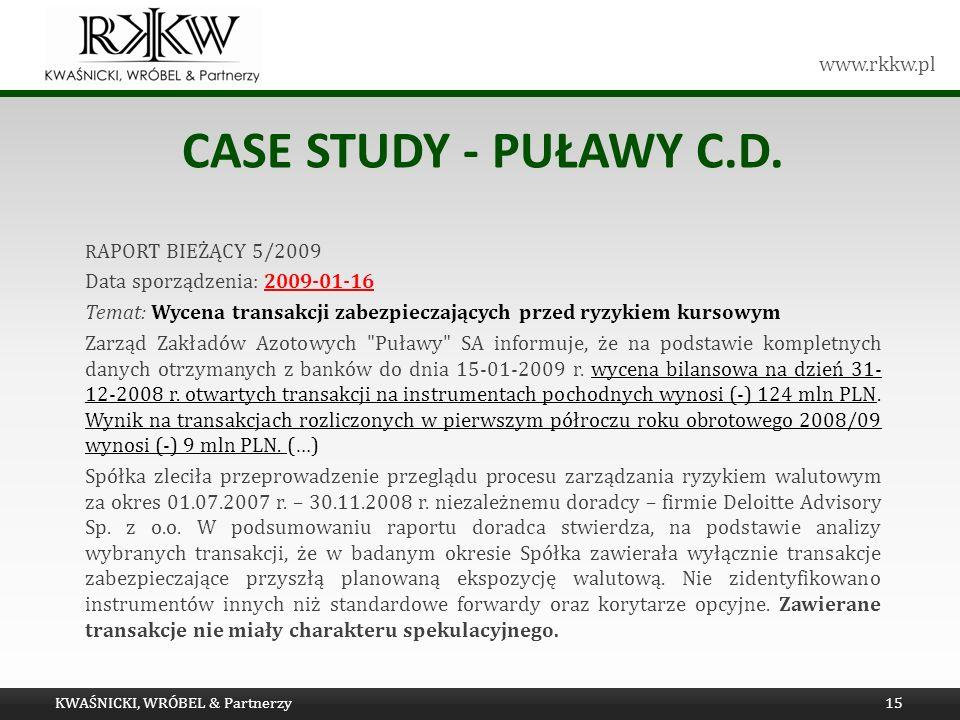 case study - Puławy C.D. Data sporządzenia: 2009-01-16