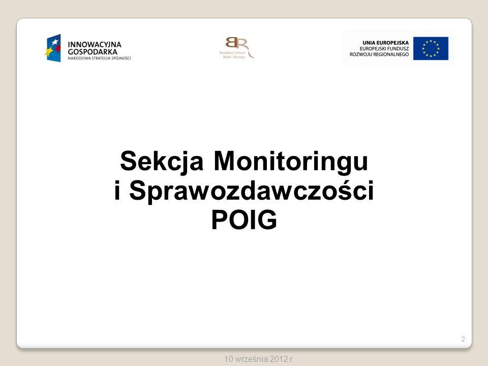 Sekcja Monitoringu i Sprawozdawczości