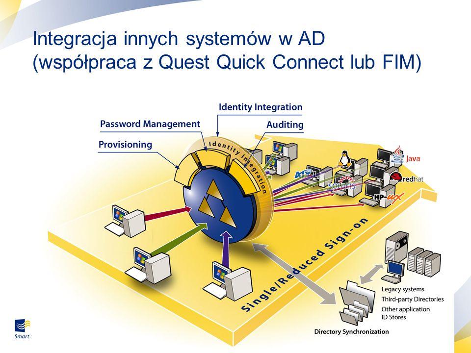 Integracja innych systemów w AD (współpraca z Quest Quick Connect lub FIM)