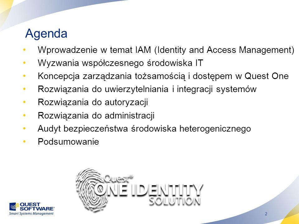 Agenda Wprowadzenie w temat IAM (Identity and Access Management)