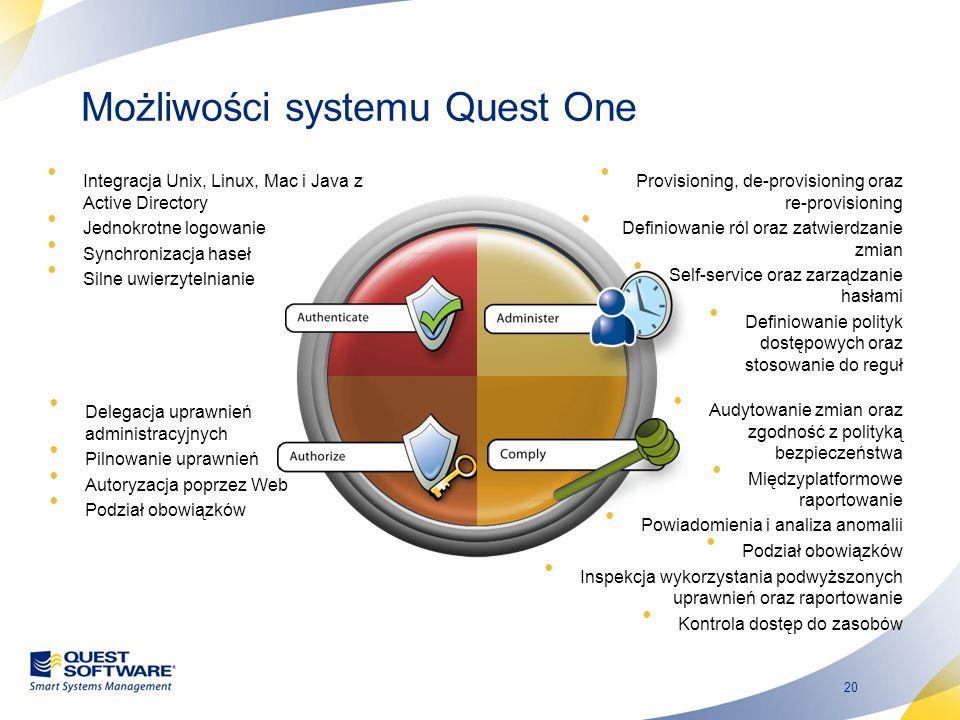 Możliwości systemu Quest One