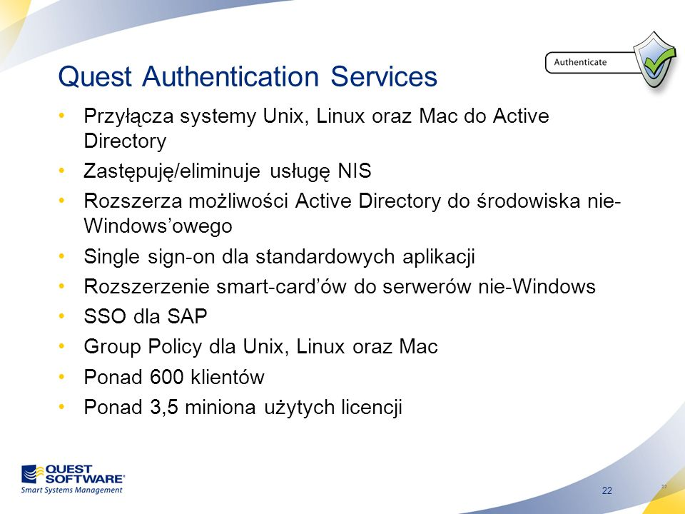 Quest Authentication Services