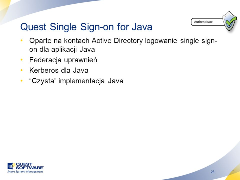 Quest Single Sign-on for Java