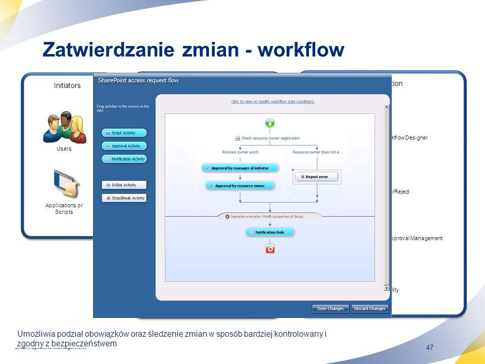 Zatwierdzanie zmian - workflow