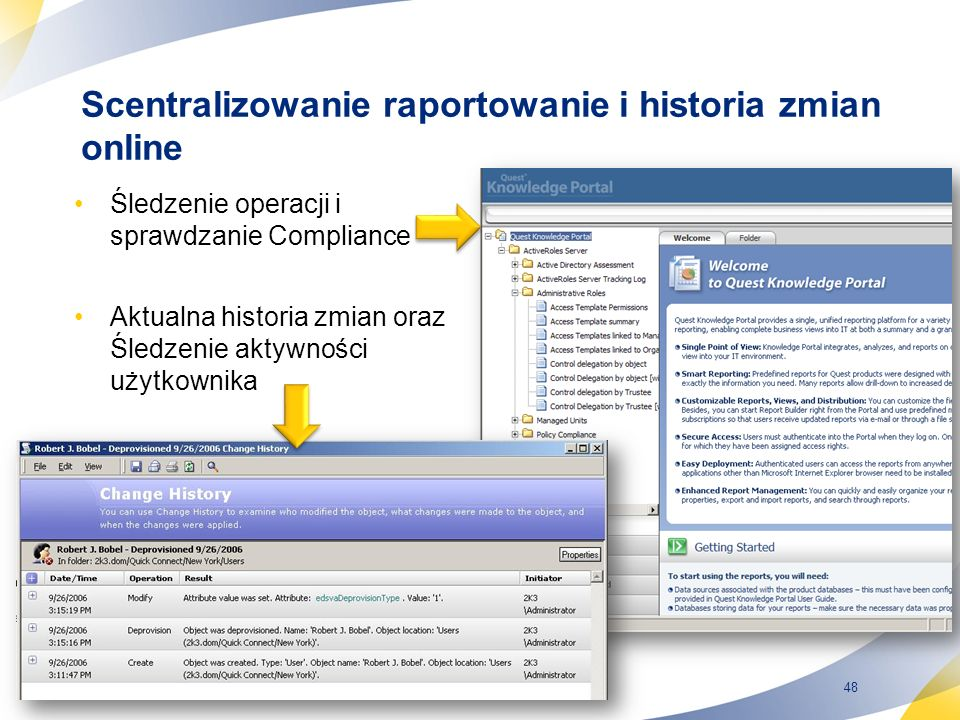 Scentralizowanie raportowanie i historia zmian online