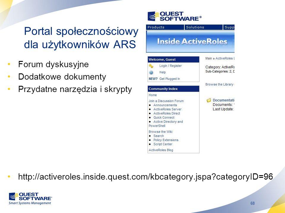 Portal społecznościowy dla użytkowników ARS