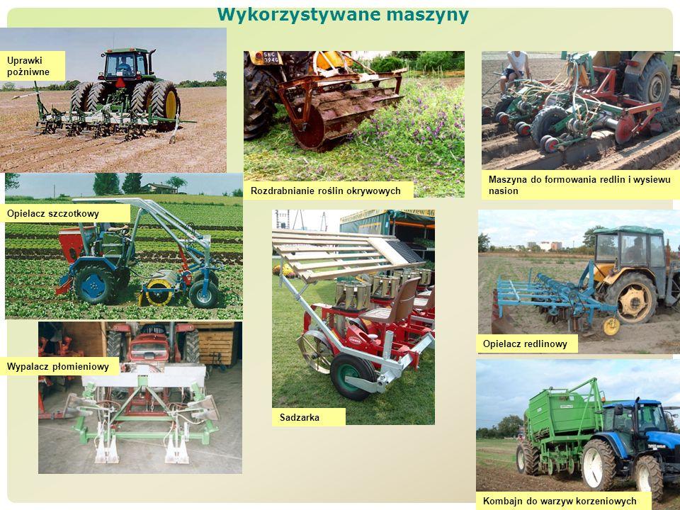 Wykorzystywane maszyny