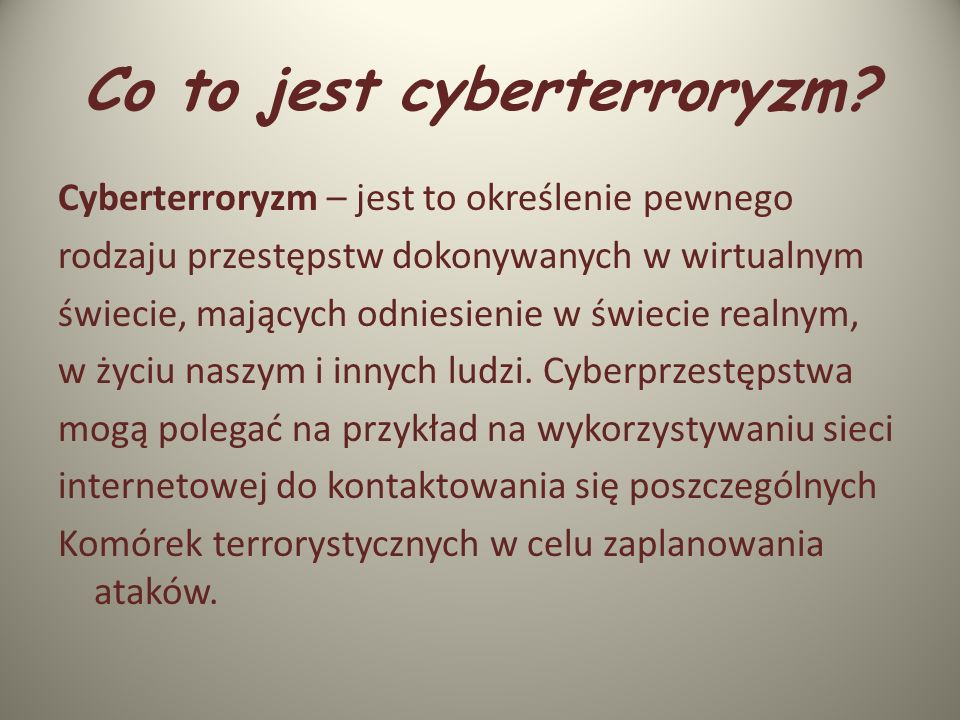 Co to jest cyberterroryzm