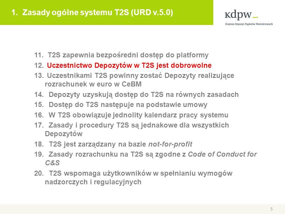 1. Zasady ogólne systemu T2S (URD v.5.0)