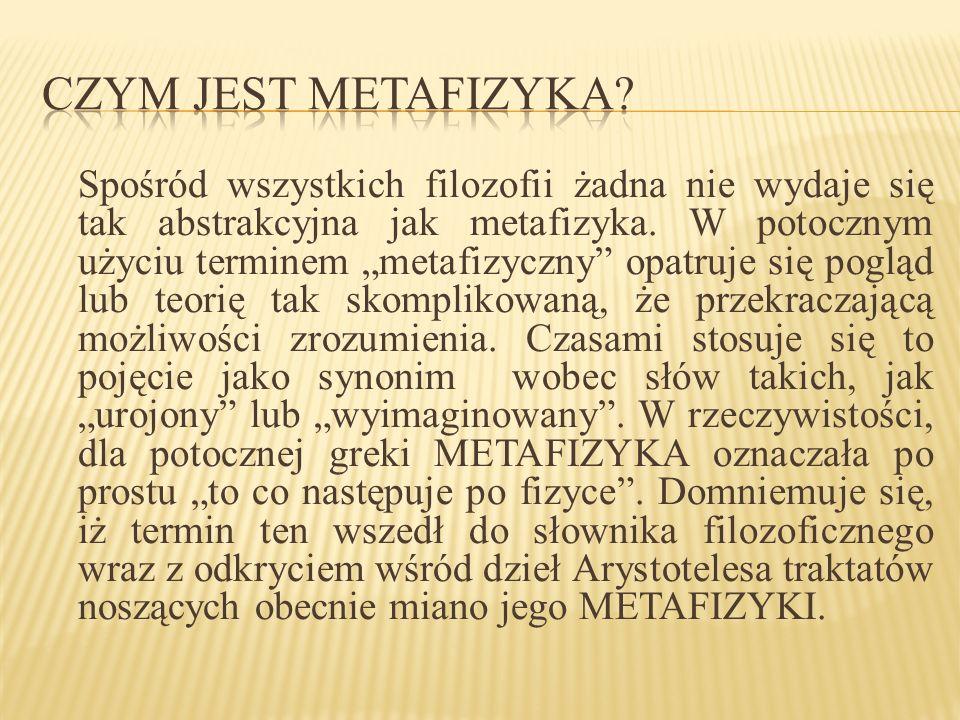 Czym jest metafizyka