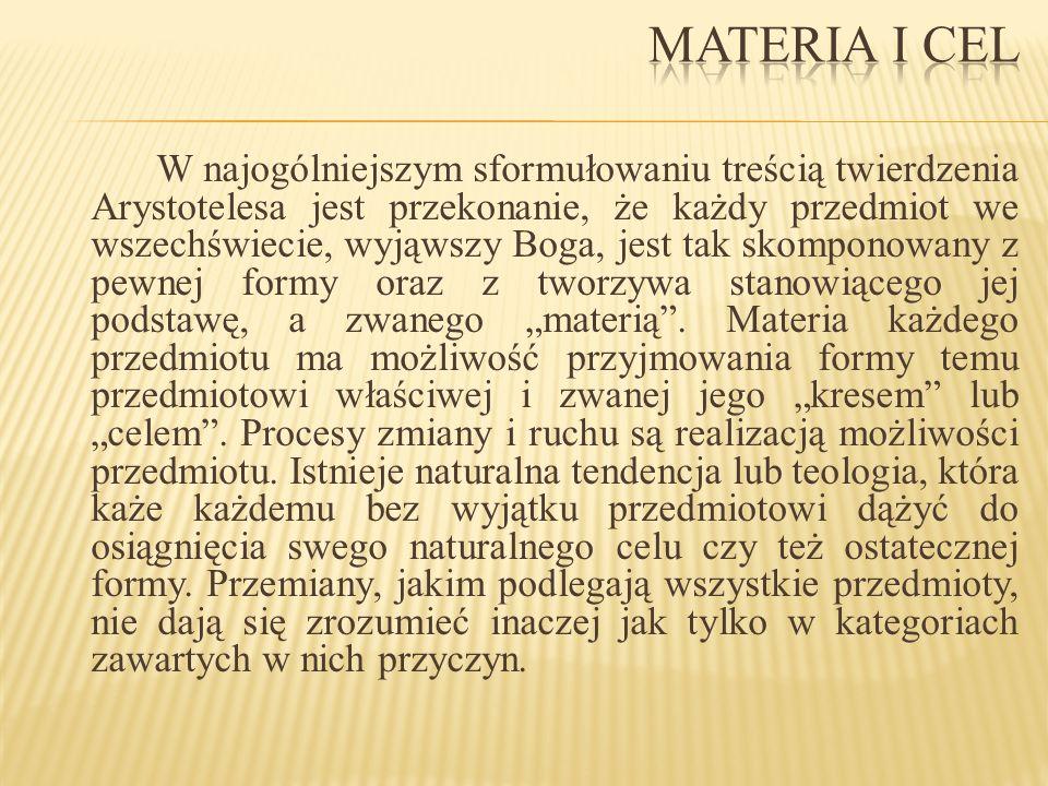 Materia i cel