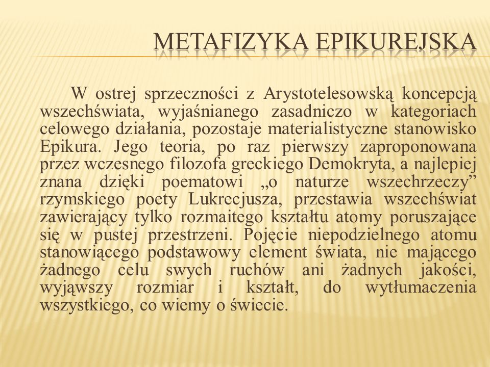 Metafizyka epikurejska