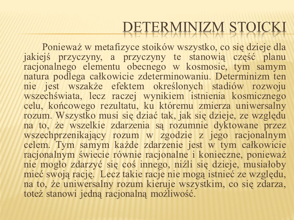 Determinizm stoicki