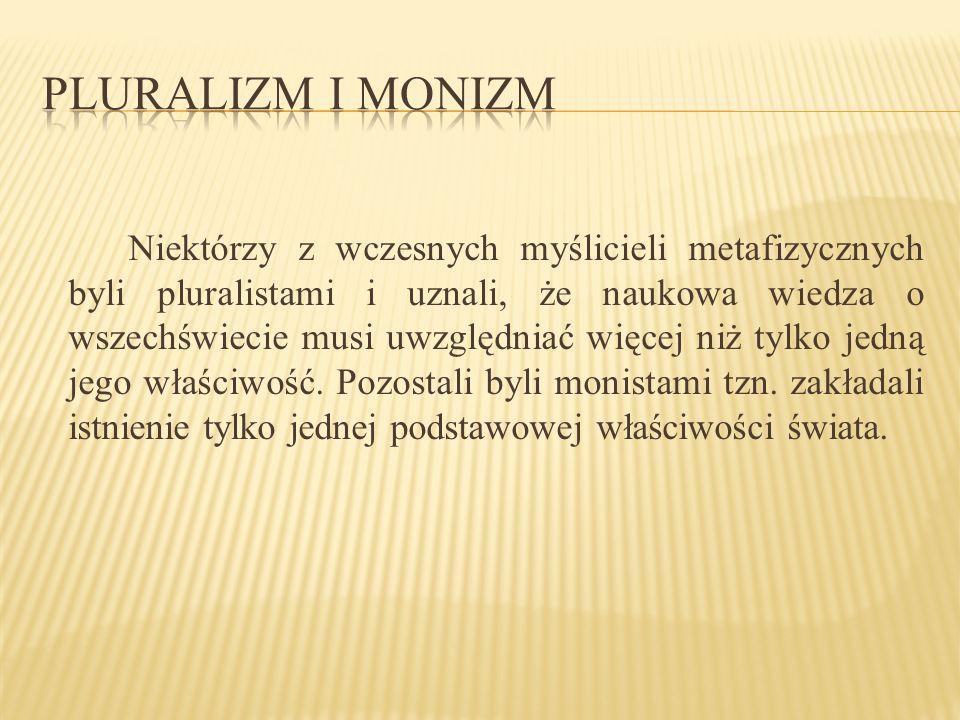 Pluralizm i monizm