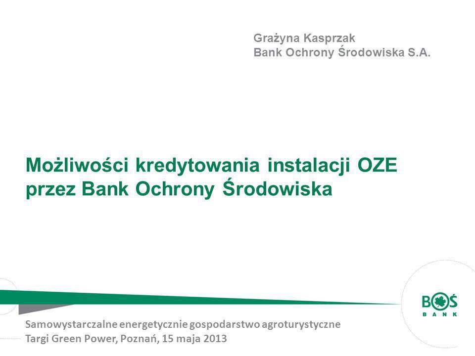 Możliwości kredytowania instalacji OZE przez Bank Ochrony Środowiska
