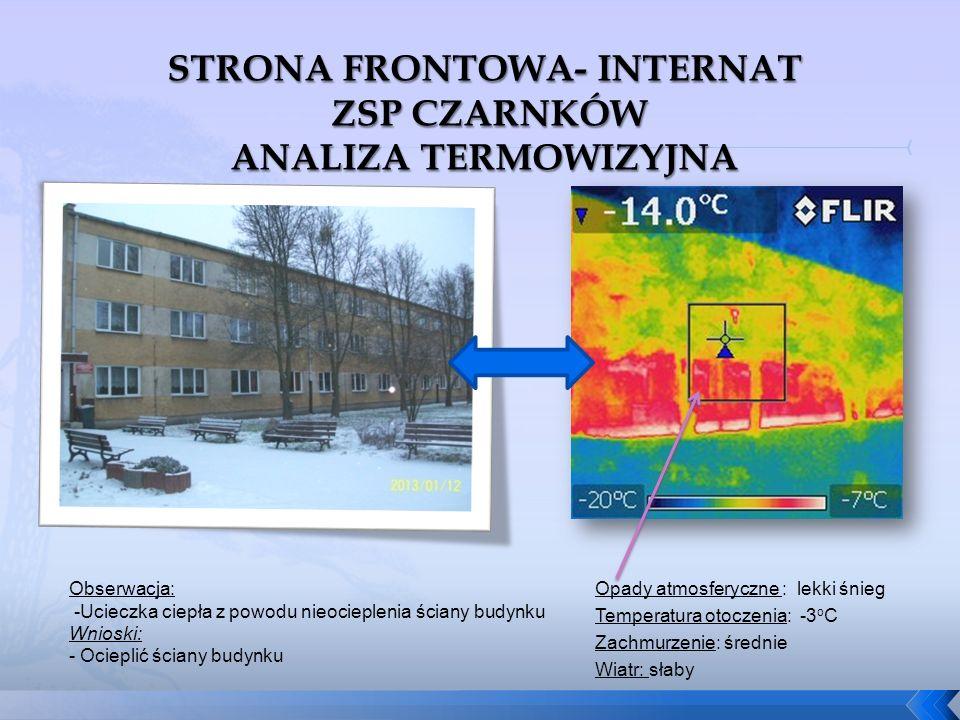 STRONA FRONTOWA- INTERNAT ZSP CZARNKÓW ANALIZA TERMOWIZYJNA