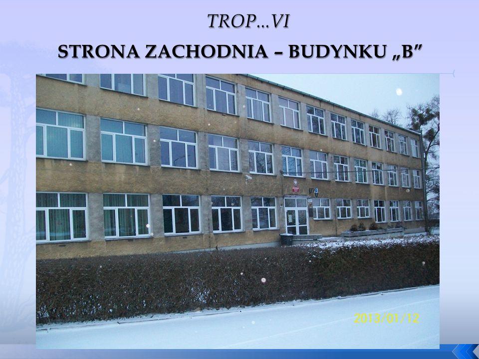 """STRONA ZACHODNIA – BUDYNKU """"B"""