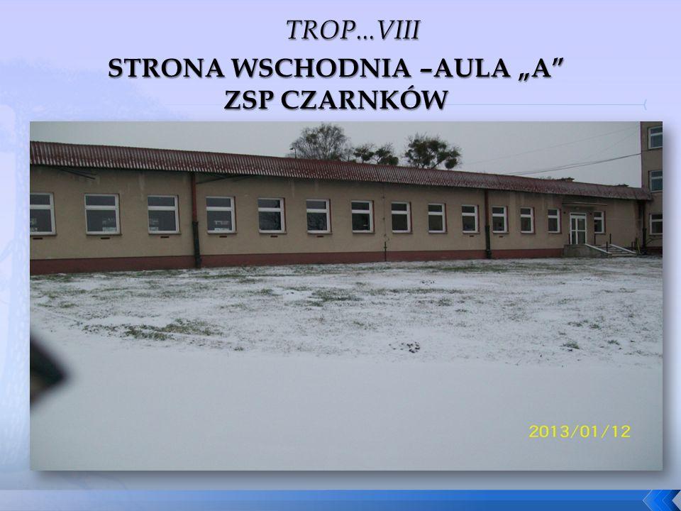 """STRONA WSCHODNIA –AULA """"A ZSP CZARNKÓW"""