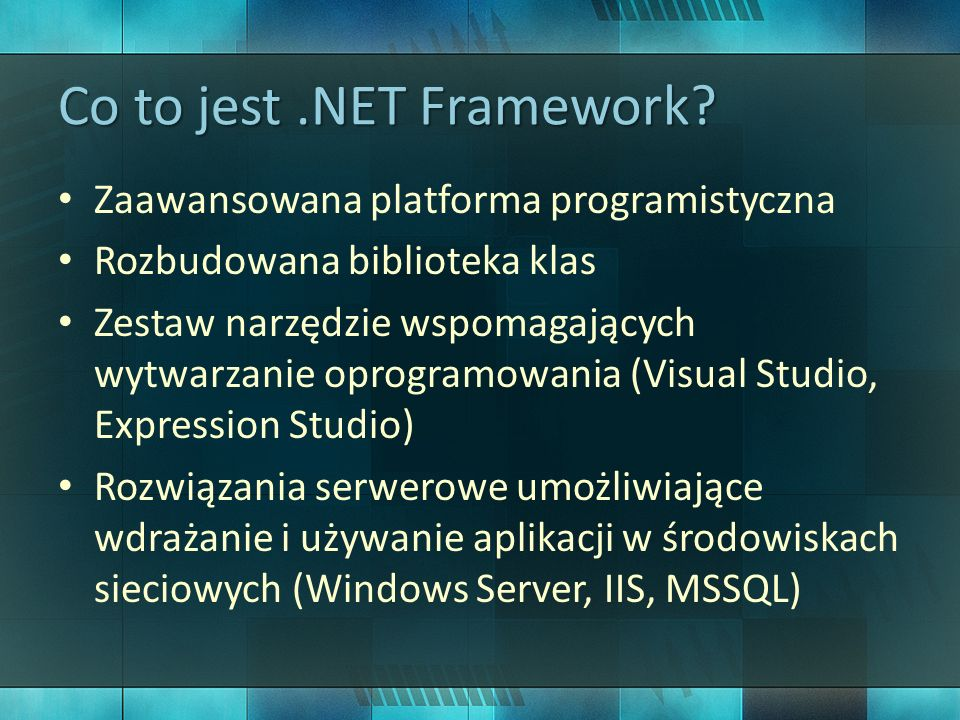 Co to jest .NET Framework