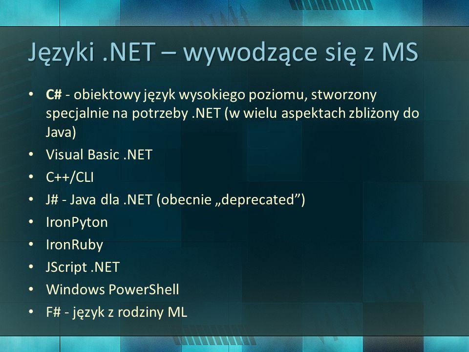 Języki .NET – wywodzące się z MS