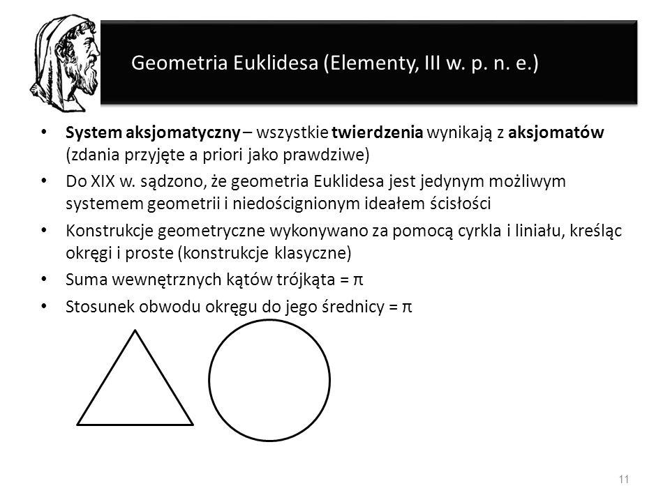 Geometria Euklidesa (Elementy, III w. p. n. e.)