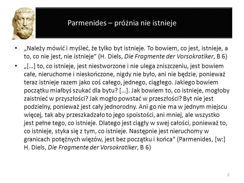 Parmenides – próżnia nie istnieje
