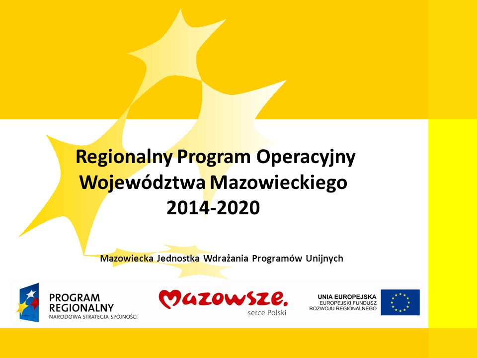 Regionalny Program Operacyjny Województwa Mazowieckiego 2014-2020