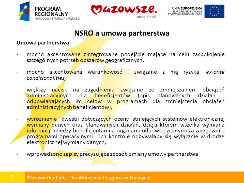 NSRO a umowa partnerstwa