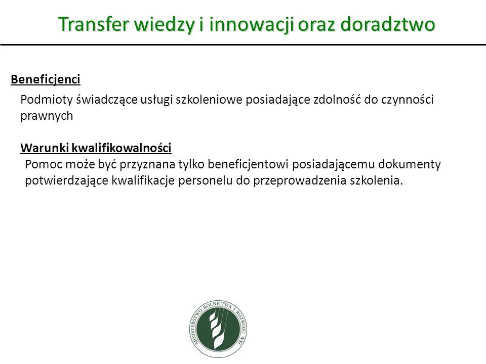 Transfer wiedzy i innowacji oraz doradztwo