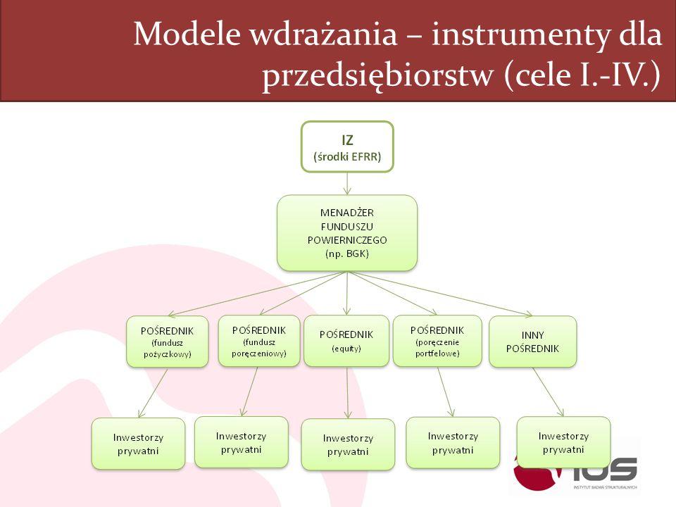 Modele wdrażania – instrumenty dla przedsiębiorstw (cele I.-IV.)
