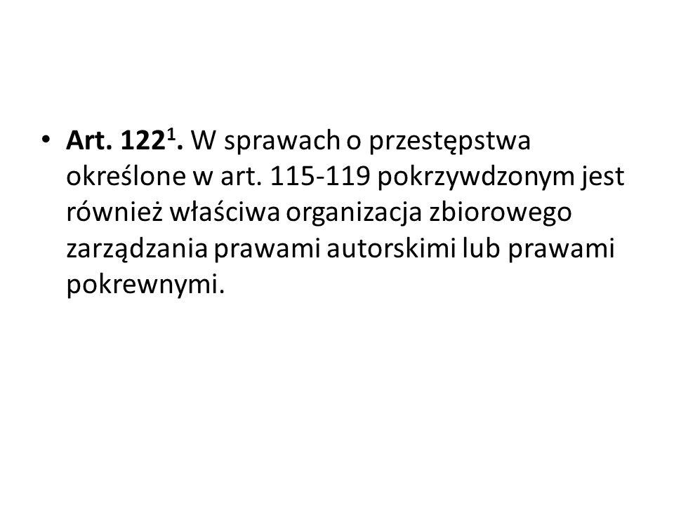 Art. 1221. W sprawach o przestępstwa określone w art