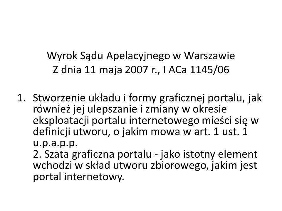 Wyrok Sądu Apelacyjnego w Warszawie