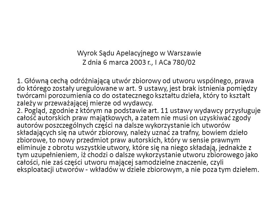 Wyrok Sądu Apelacyjnego w Warszawie Z dnia 6 marca 2003 r